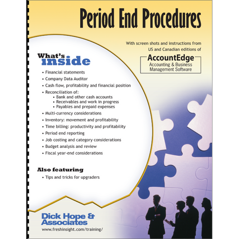 AccountEdge: Period End Procedures training manual