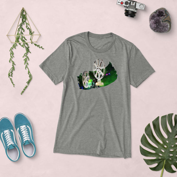 Cosmic Projector (Green) Short sleeve t-shirt