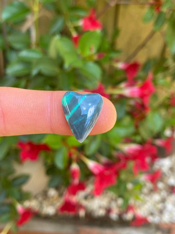 Valentines Day Black Opal Heart