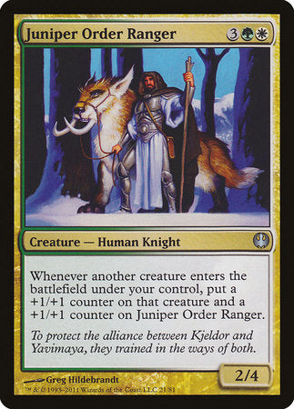 Juniper Order Ranger [Duel Decks: Knights vs. Dragons]