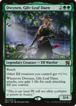 Dwynen, Gilt-Leaf Daen [Duel Decks: Elves vs. Inventors]