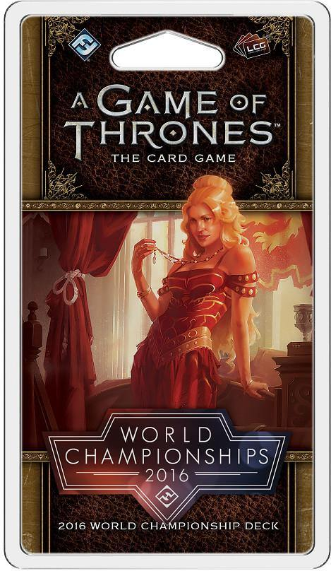 A Game of Throne LCG: 2016 World Championship Joust Deck Card Game