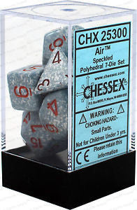 D7-Die Set Dice Speckled Polyhedral Air