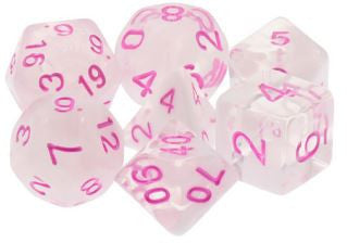 TMG Dice Candied Whispers - Milky White with Pink