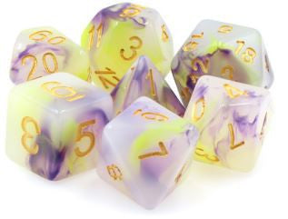 TMG Dice Lurking Violets - Purple/White Jade Opaque