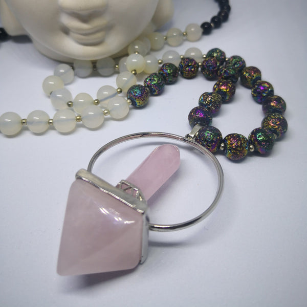 Rose Quartz 108 Stone Mala Necklace