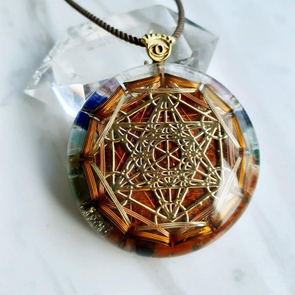 Markaba Orgonite Necklace |FeelHeal.me