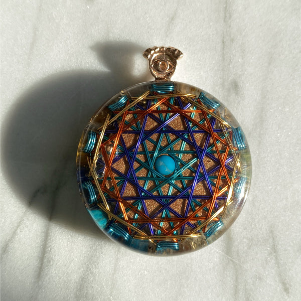 Sacred Geometry Orgonite Middle Size | FeelHeal.me