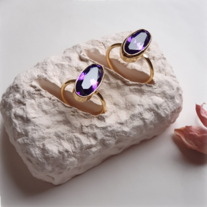 Purple Zircon Ring | FeelHeal.me