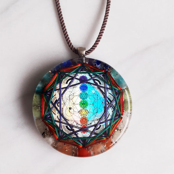 Chakra Colors Merkaba Orgonite | FeelHeal.me