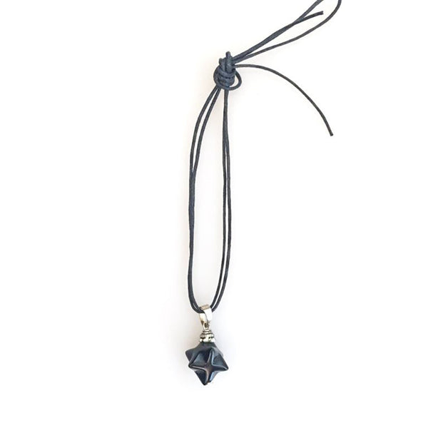 Merkaba Onyx Necklace | FeelHeal.me
