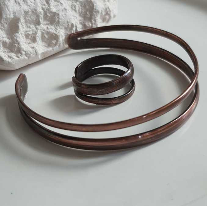Copper Classic Bracelet and Ring | FeelHeal.me