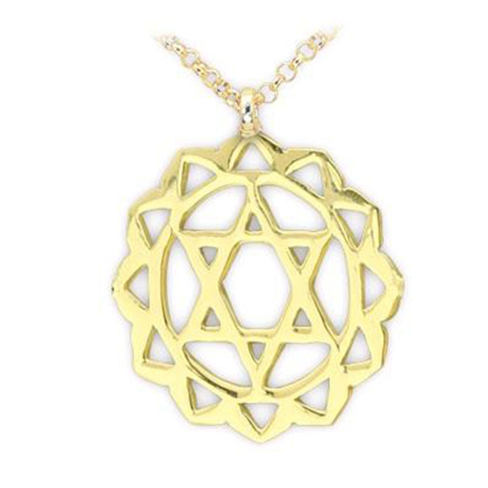 Heart Chakra Gold Necklace | FeelHeal.me