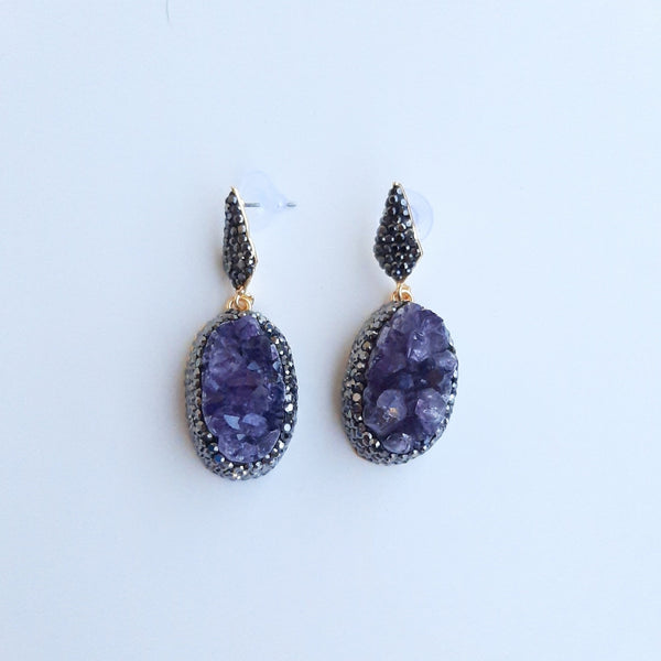 Energy Earring with Amethyst Stone | FeelHeal.me