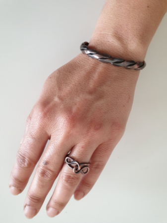 Special Design Knitted Pure Copper Bracelet and Ring | FeelHeal.me