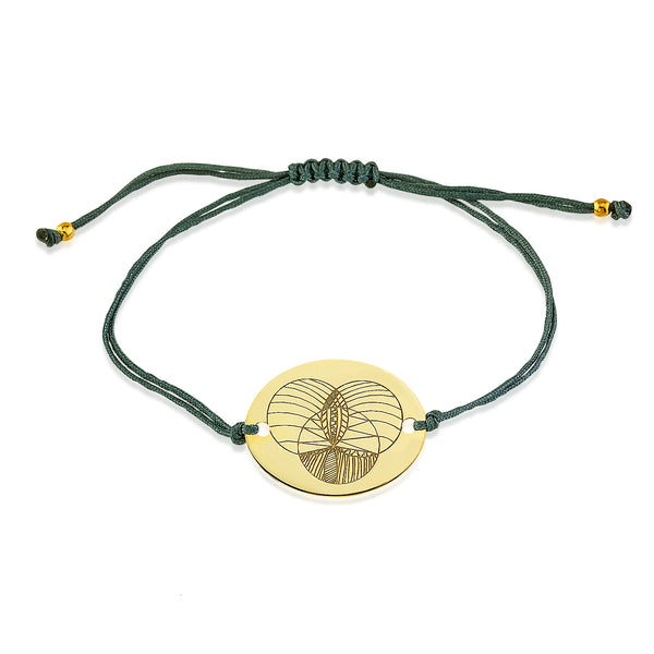 Intersection Macrame Bracelet Gold | FeelHeal.me
