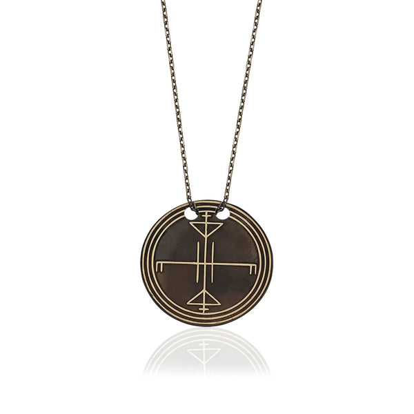 Tengri 1 Circle Necklace Black | FeelHeal.me