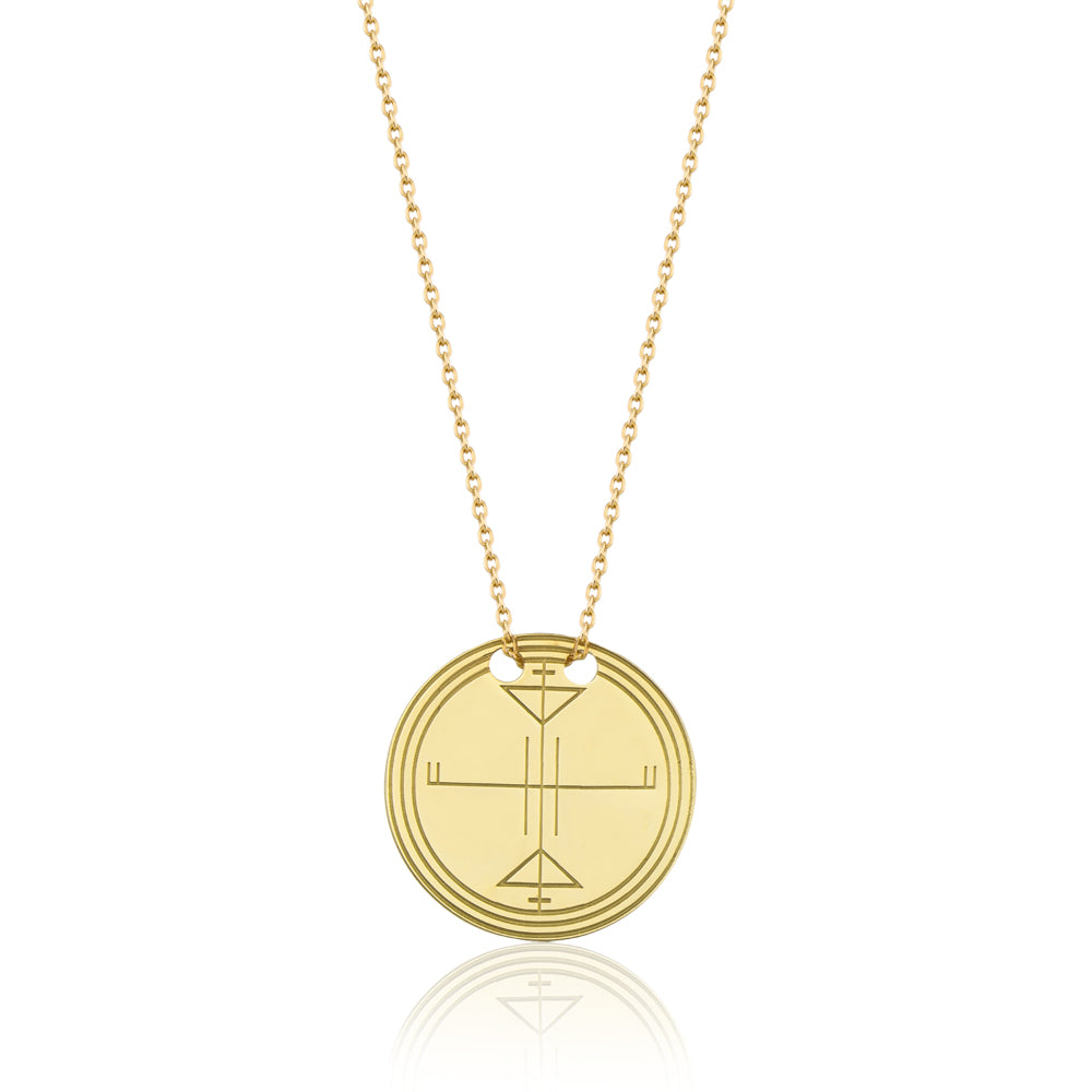 Tengri 1 Circle Necklace Gold | FeelHeal.me