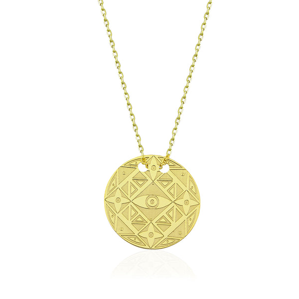 Visions Circle Necklace Gold | FeelHeal.me