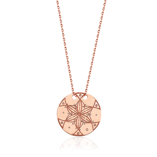 Dreamer Circle Necklace Rose | FeelHeal.me