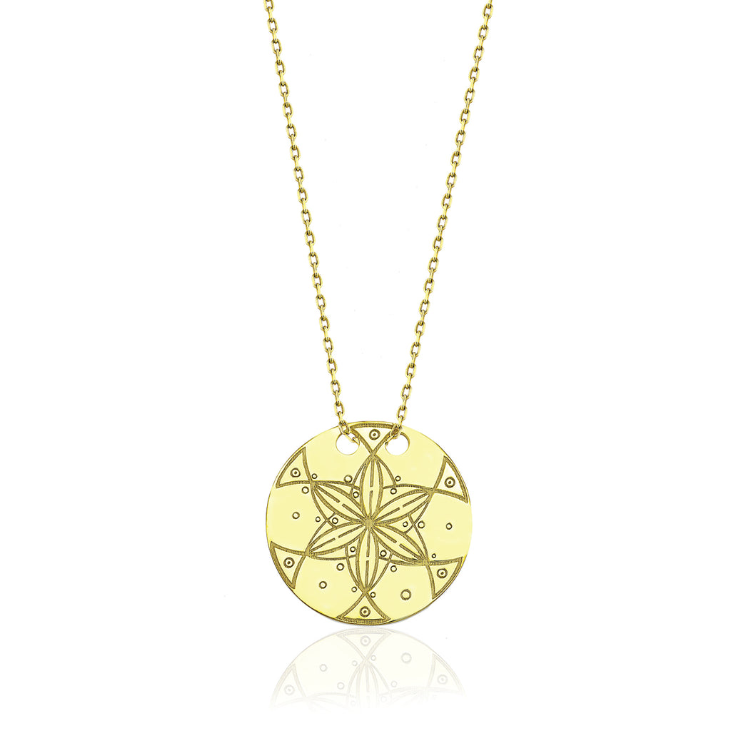Dreamer Circle Necklace Gold | FeelHeal.me
