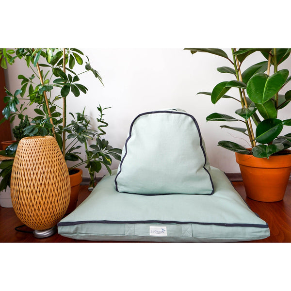 Serenity Destination Triangle Upper Support Meditation Cushion | FeelHeal.me