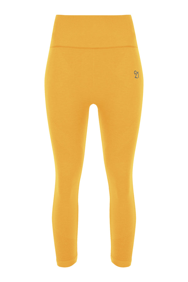 Capri Leggings Citrus Yellow | FeelHeal.me