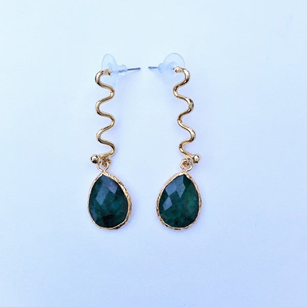 Bronze Earring with Labradorite Stone | FeelHeal.me