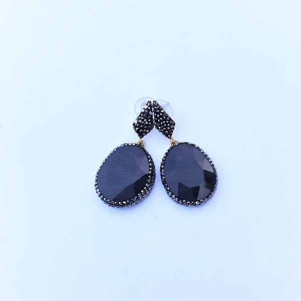 Cat's Eye Stone Earring with Zircon Details | FeelHeal.me