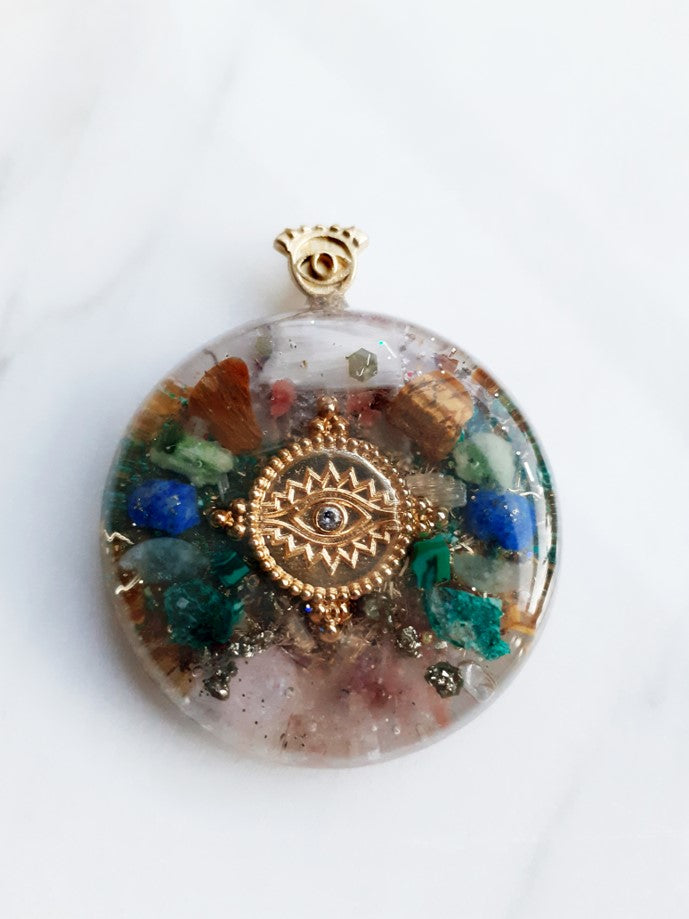 Third Eye Orgonite Necklace | FeelHeal.me