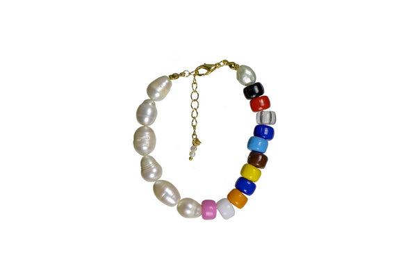 Large Color Bracelet with Natural Pearls | FeelHeal.me