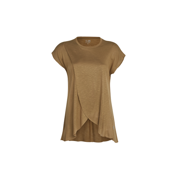 3 Layer Pleated Blouse Khaki | FeelHeal.me