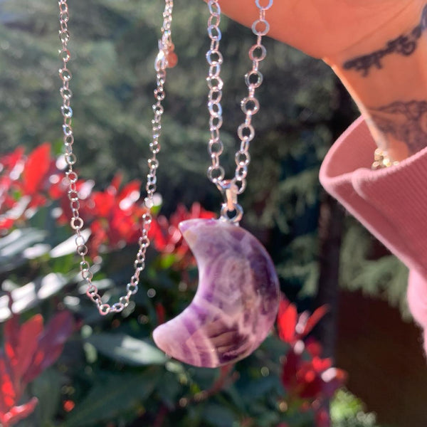 Moonlight Amethyst Necklace | FeelHeal.me