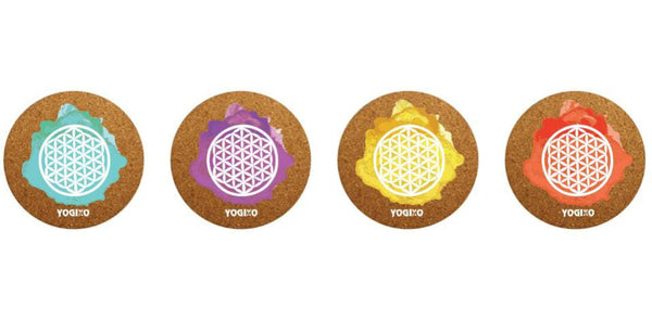 Cork Yoga Beverage Coaster Set of 4
