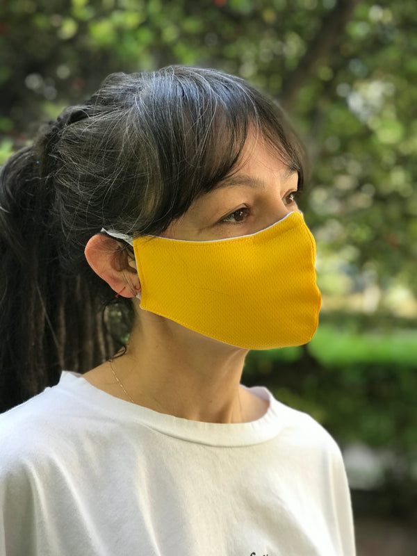 Yellow Design Face Mask | FeelHeal.me
