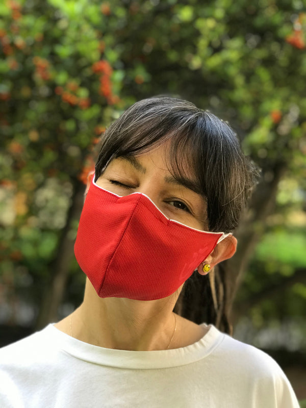 Red Design Face Mask | FeelHeal.me