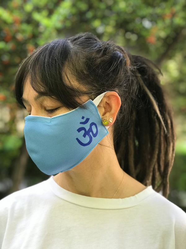 Aum Blue Design Face Mask | FeelHeal.me
