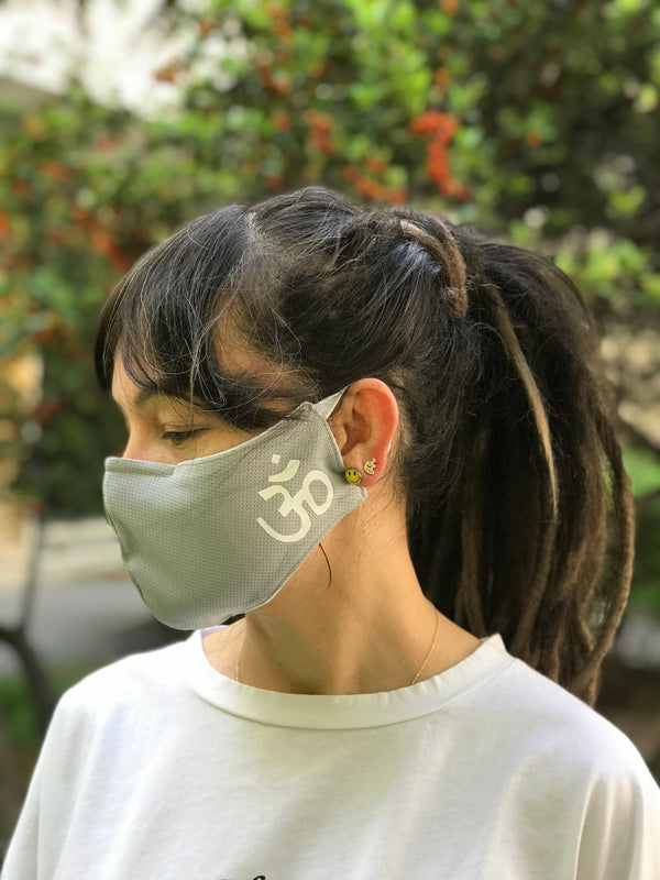 Aum Grey Design Face Mask | FeelHeal.me
