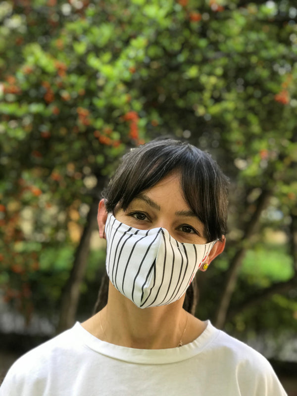 Aum Striped Design Face Mask | FeelHeal.me