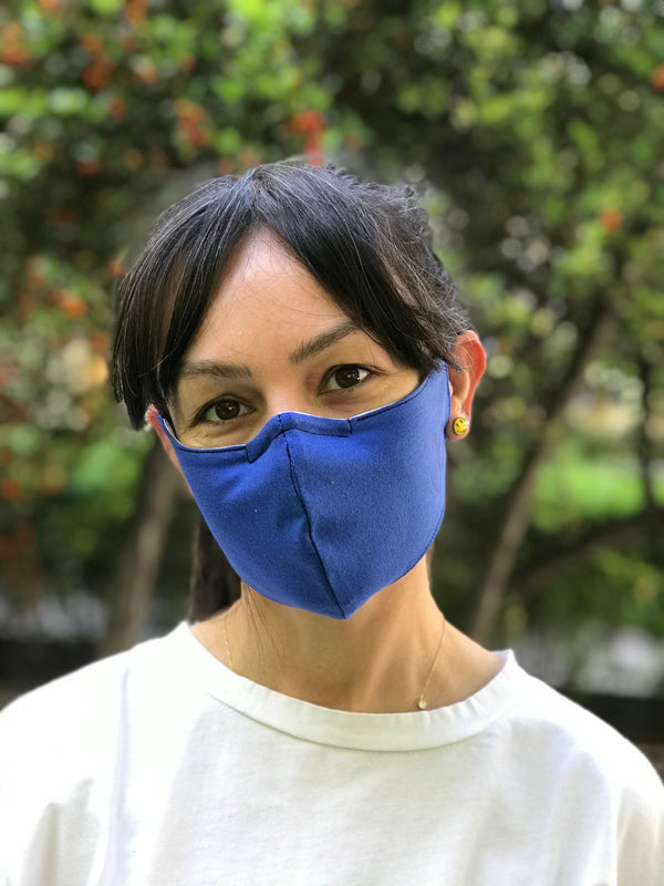 Aum Dark Blue Face Mask | FeelHeal.me
