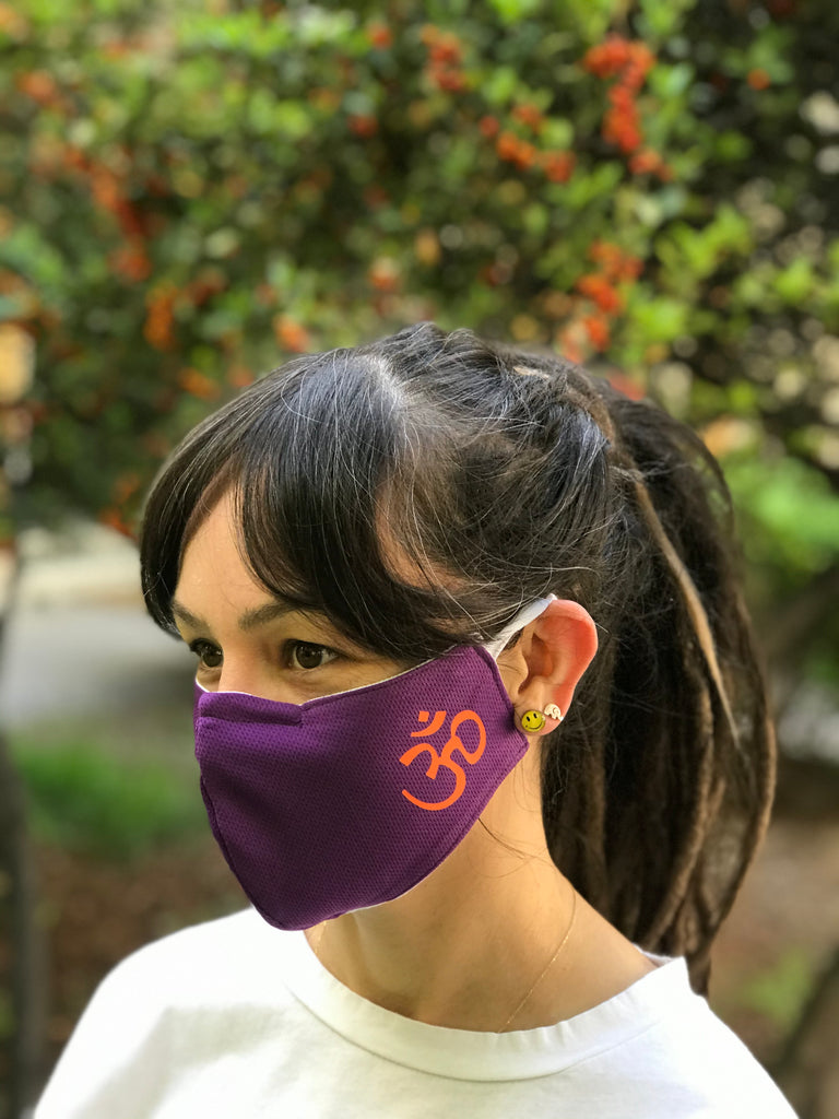 Aum Purple Design Face Mask | FeelHeal.me