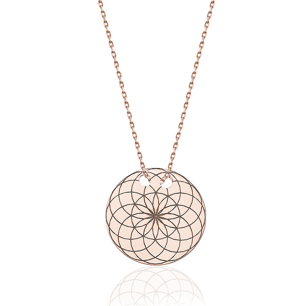 Torus Circle Necklace Rose | FeelHeal.me