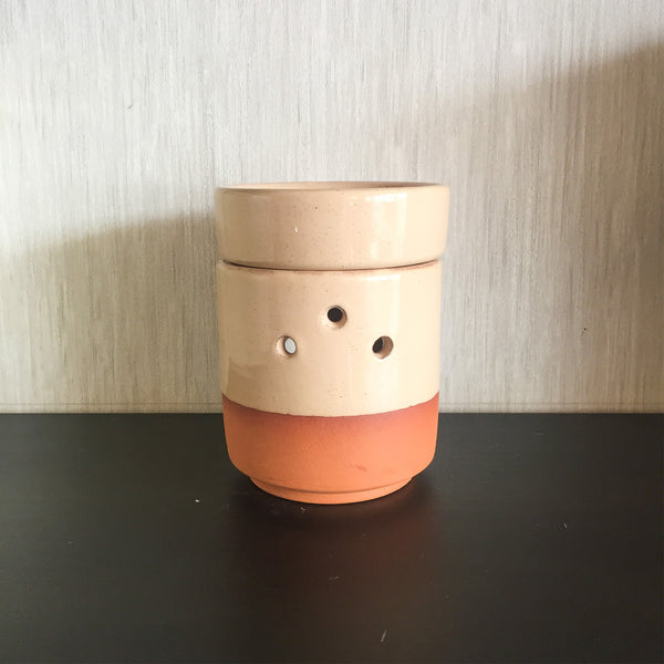 Aromatherapy Handmade Ceramic Censer - Cream | FeelHeal.me