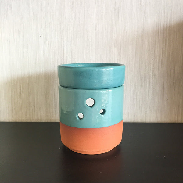 Aromatherapy Handmade Ceramic Censer - Mint Green | FeelHeal.me