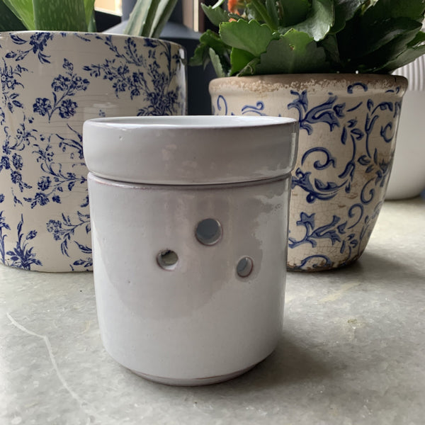 Ceramic White Censer | FeelHeal.me