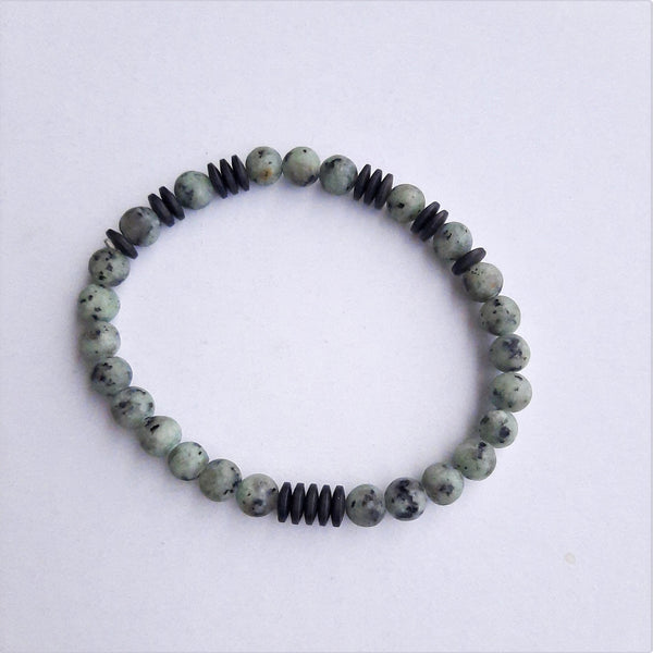 Jasper and Hematite Stone Bracelet | FeelHeal.me