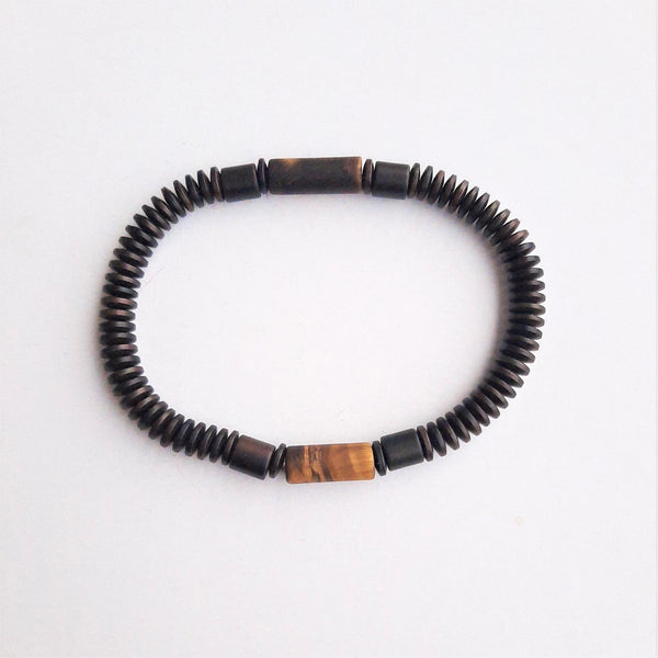 Agate and Hematite Stone Bracelet | FeelHeal.me
