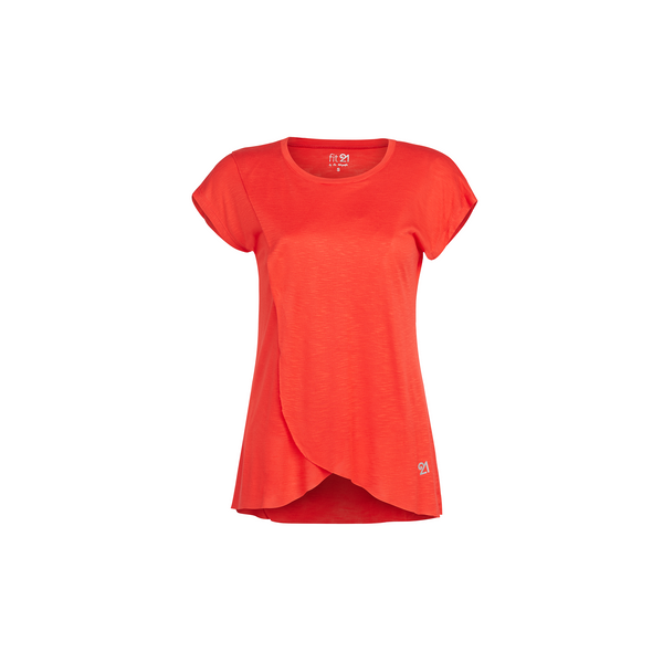 3 Layer Pleated Blouse Coral | FeelHeal.me