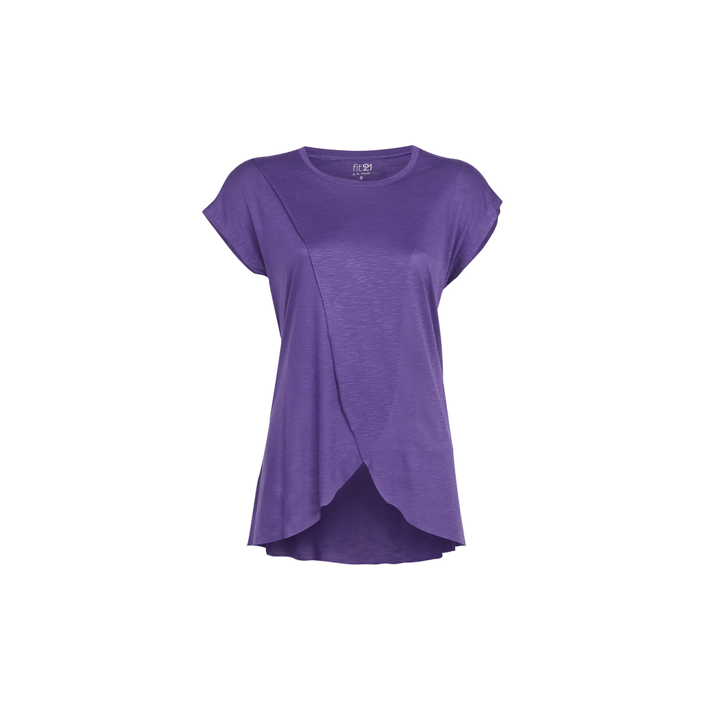 3 Layer Pleated Blouse Purple | FeelHeal.me