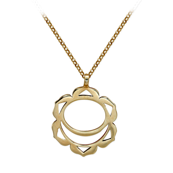 Sacral Chakra Gold Necklace | FeelHeal.me